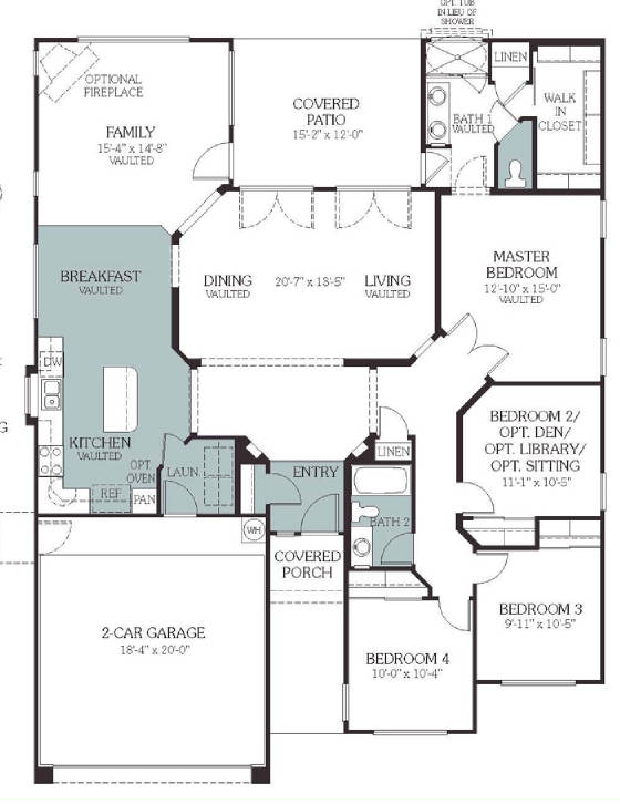 Floor plan for Homes for sale with floor plans